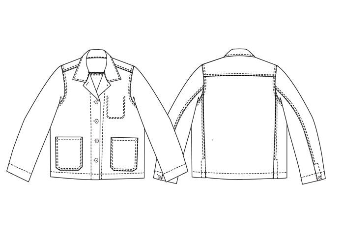 MERCHANT AND MILLS • Ottoline Denim Jacket Sewing Pattern – The ...