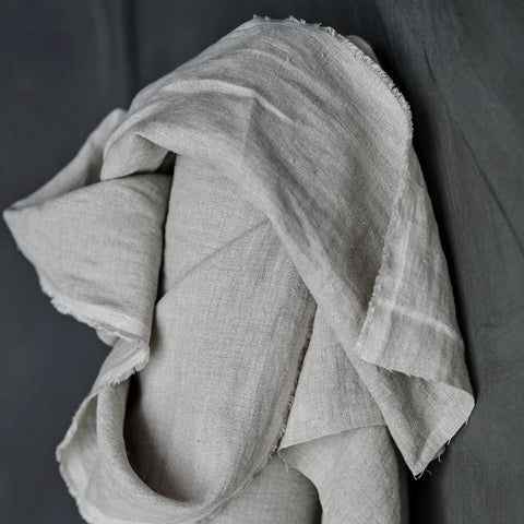 Merchant and Mills European Laundered Linen Fabric Big Sur Neutral