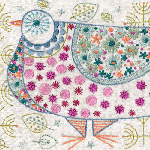 Nancy Nicholson Pigeon Embroidery Stitch Kit