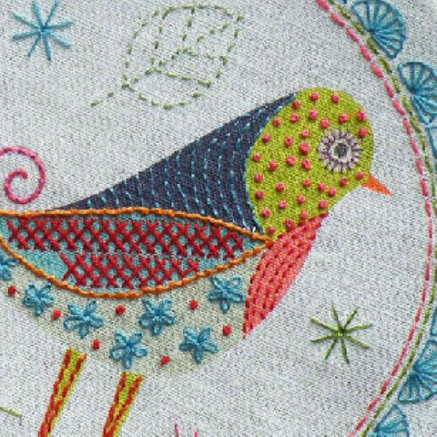 Nancy Nicholson Birdie 1 Embroidery Kit
