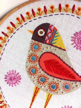 Nancy Nicholson Birdie 4 Stitch Embroidery Kit