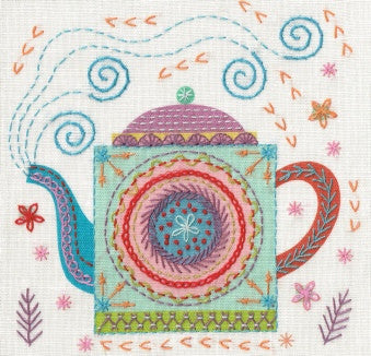 Nancy Nicholson Teapot Embroidery Stitch Kit