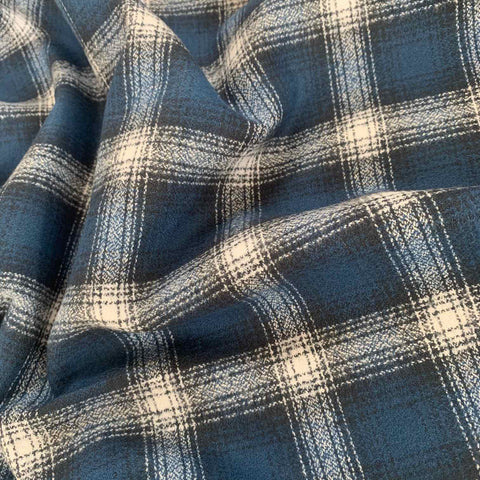 Robert Kaufman Mammoth Check Flannel Fabric Cobalt Blue