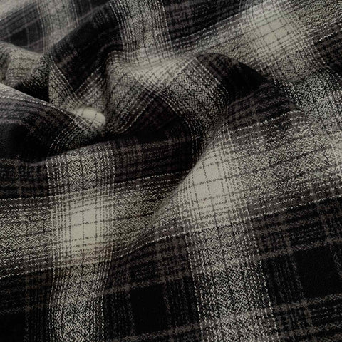 Robert Kaufman Mammoth Check Flannel Fabric Grey