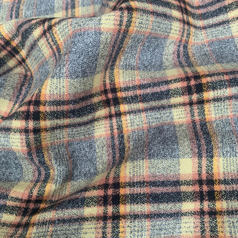 Robert Kaufman Mammoth Check Flannel Fabric Maize