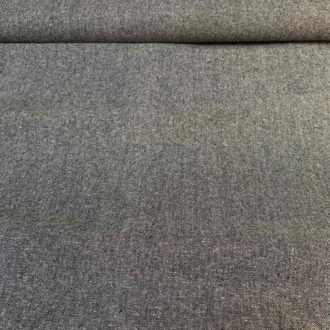 Robert Kaufman Yarn Dyed Essex Linen fabric Charcoal