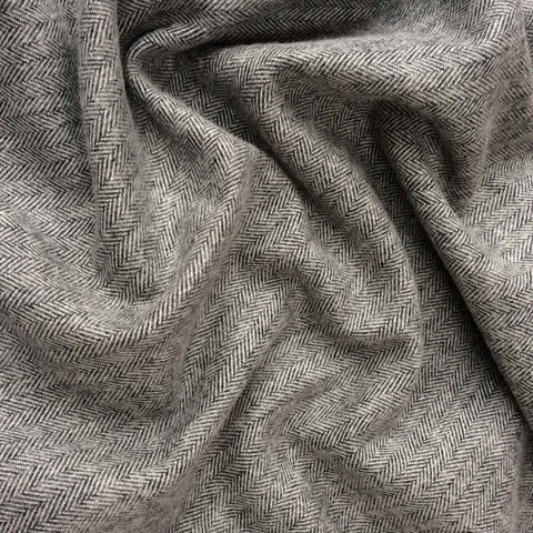 Robert Kaufman Shetland Flannel Grey Herringbone