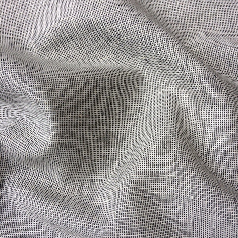 ROBERT KAUFMAN • Yarn Dyed Essex Linen Homespun • Charcoal