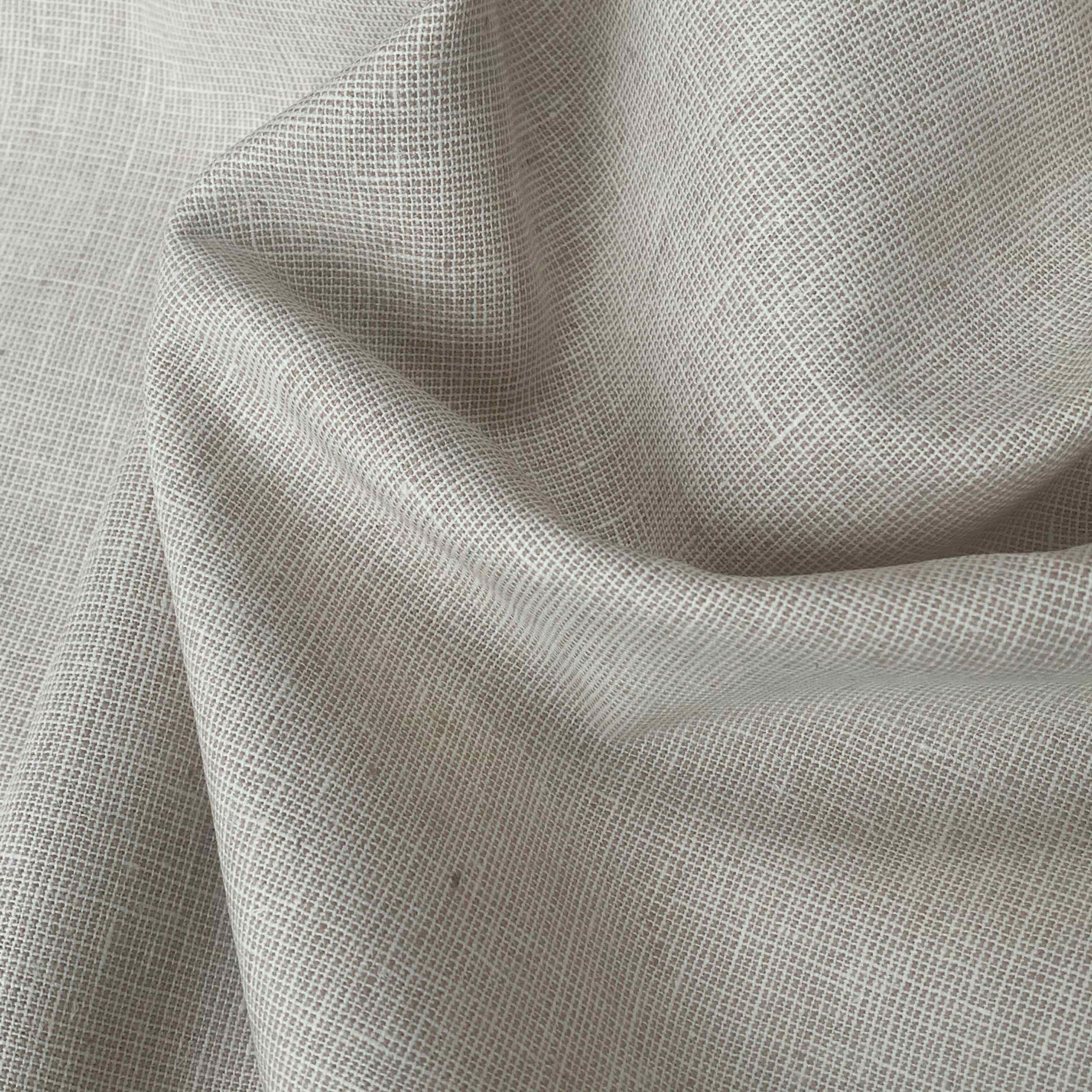 Robert Kaufman Yarn Dyed Homespun Essex Linen Fabric Natural