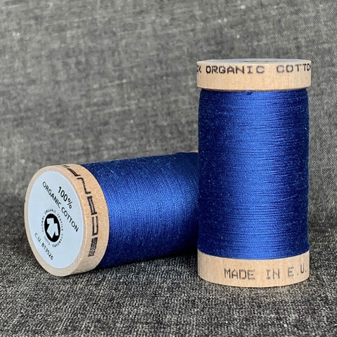 Scanfil Organic Cotton Sewing Thread Blue