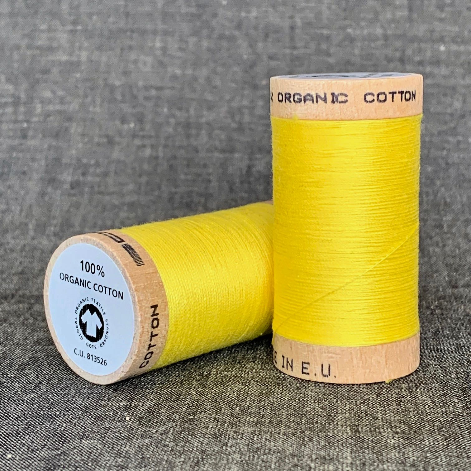 Scanfil Organic Cotton Sewing Thread Bright Yellow