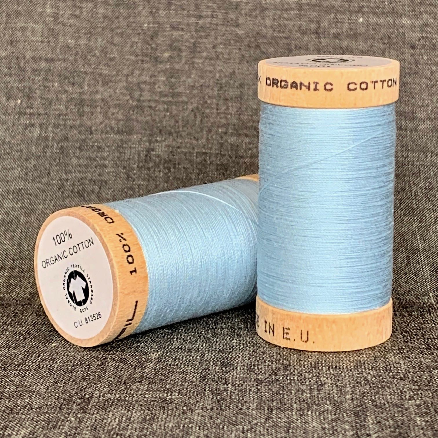 Scanfil Organic Cotton Sewing Thread Sky Blue