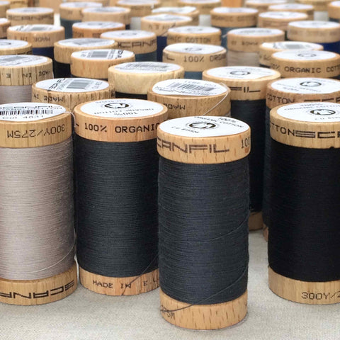 Scanfil Organic Cotton Sewing Thread Black