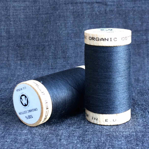 Scanfil Organic Cotton Sewing Thread Almost Black