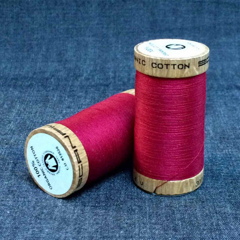 Scanfil Organic Cotton Sewing Thread Dark Red