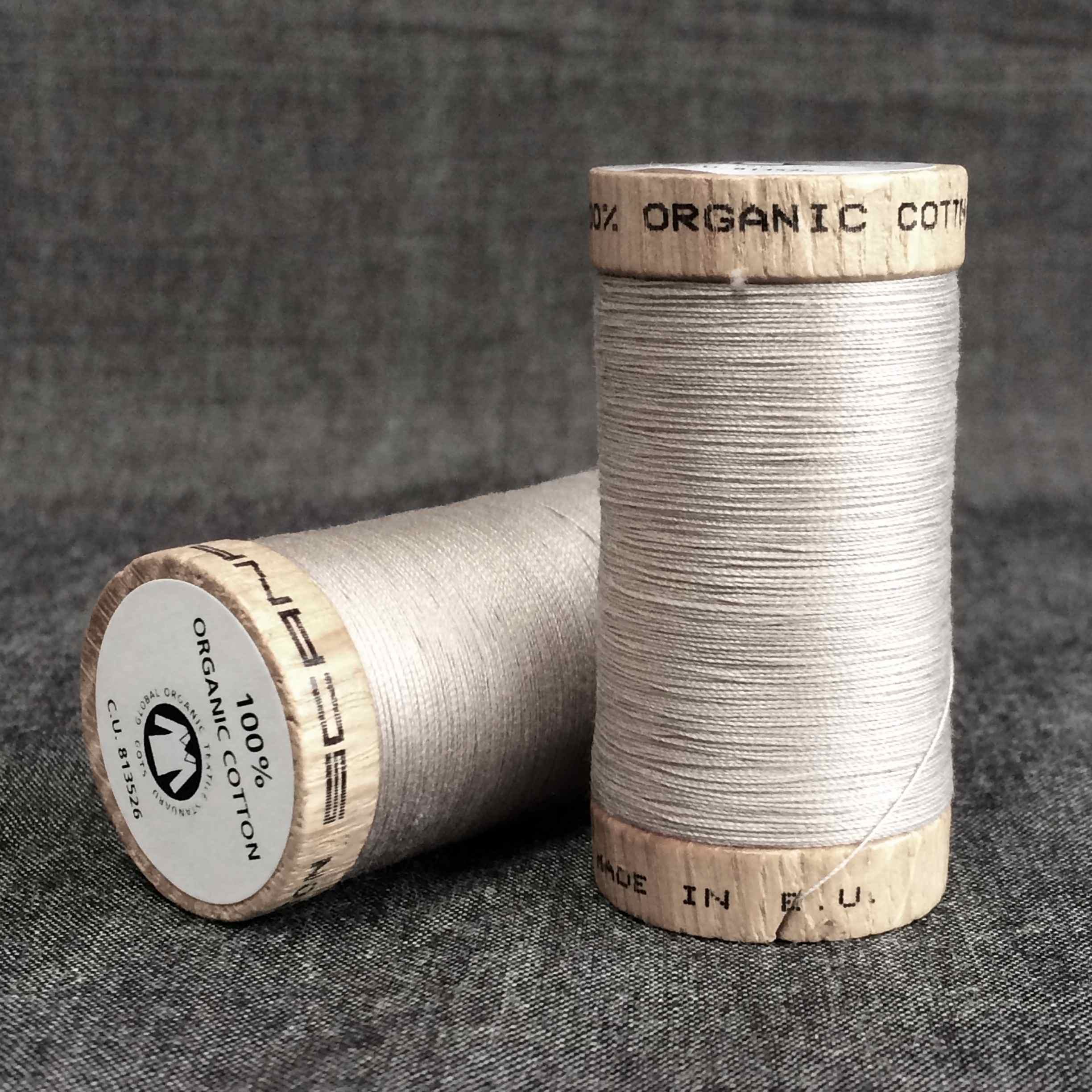 Scanfil Organic Cotton Sewing Thread Light Grey