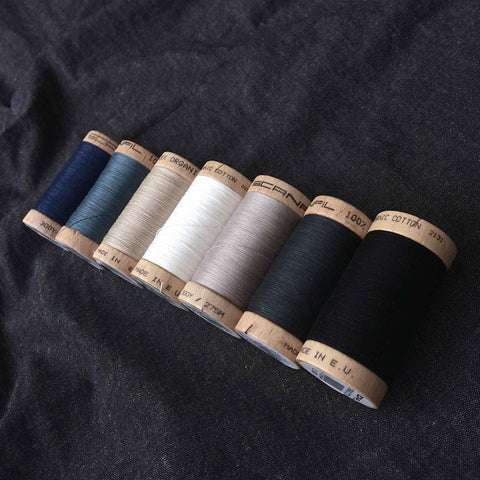 Scanfil Organic Cotton Sewing Thread Slate