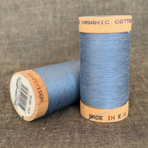 Scanfil Organic Cotton Sewing Thread Mid Blue