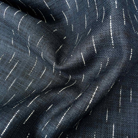 Sevenberry Rustic Indigo Cotton Spaced Lines