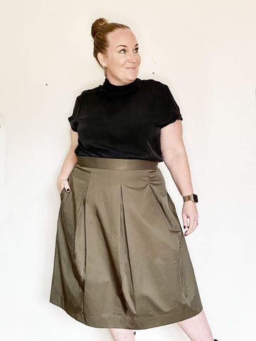 THE ASSEMBLY LINE • Three Pleat Skirt Sewing Pattern.