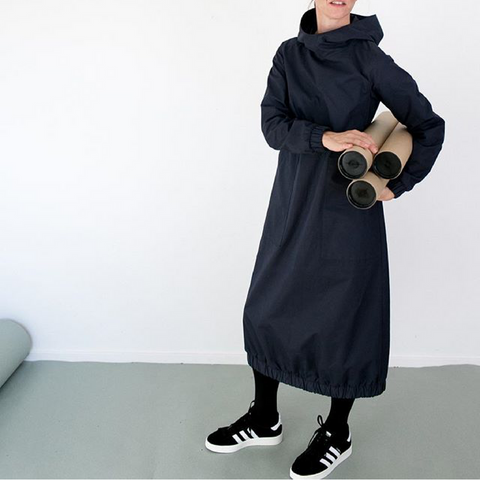 The Assembly Line Hoodie Dress Sewing Pattern