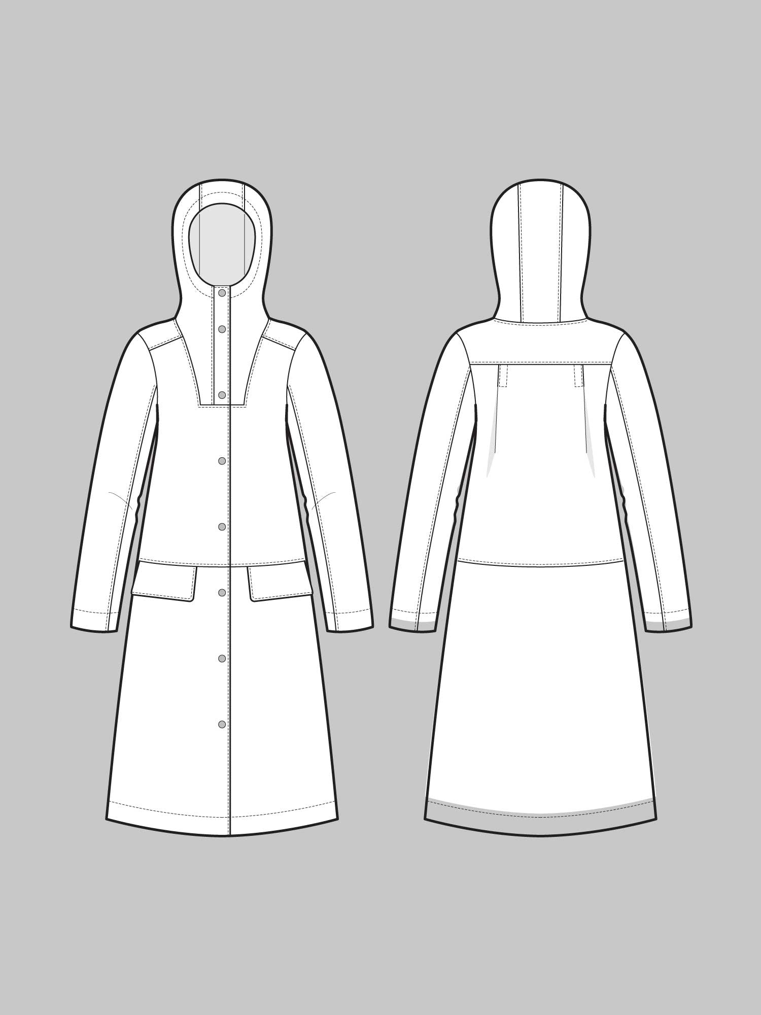 THE ASSEMBLY LINE • Hoodie Parka Sewing Pattern – The Draper\'s Daughter