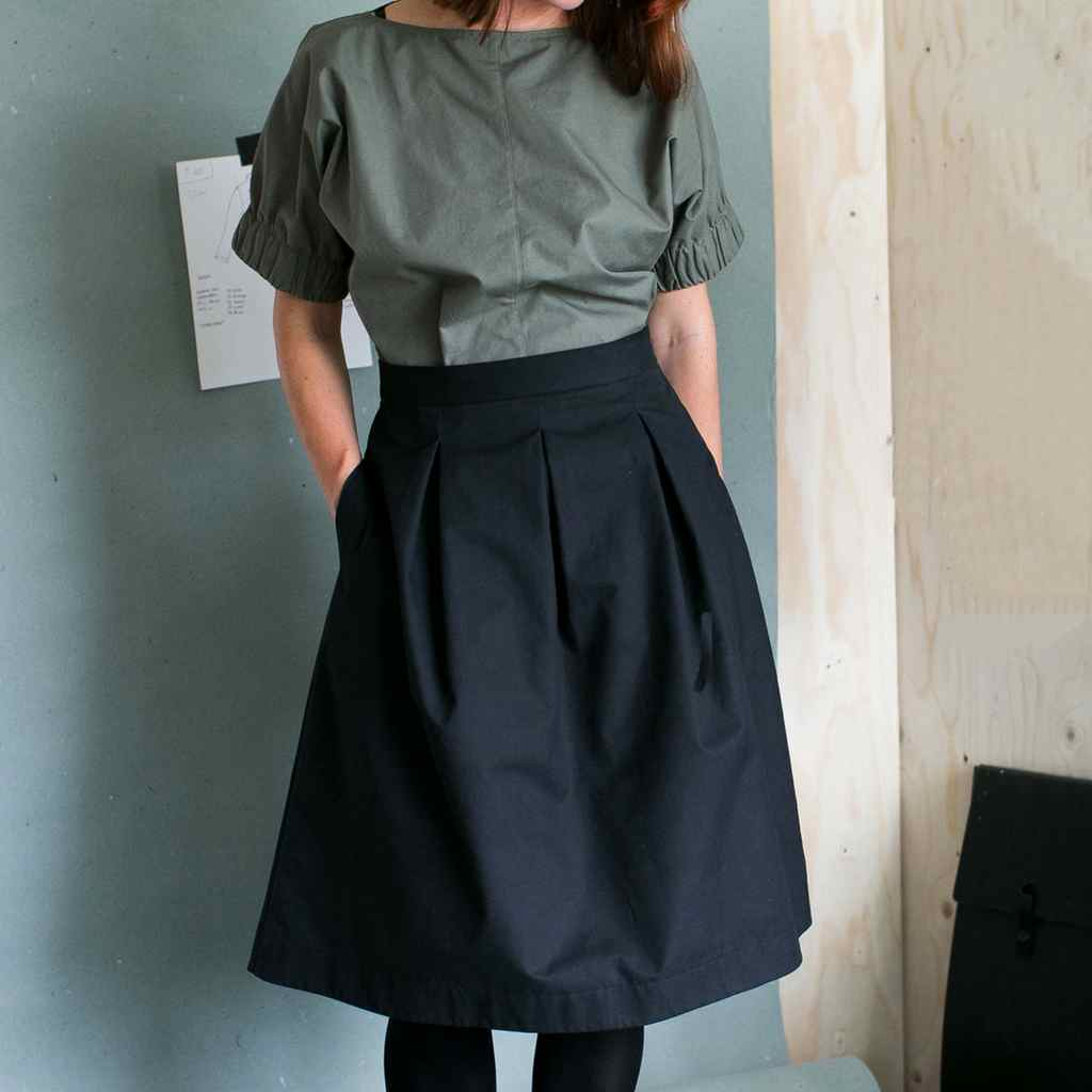 The Assembly Line Three Pleat Skirt Sewing Pattern
