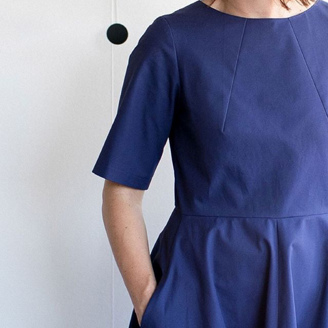 Assembly Line Sewing Pattern Cap Sleeve Dress Easy