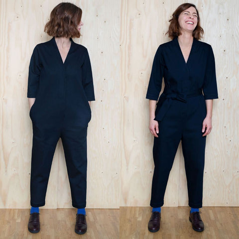 The Assembly Line V-Neck Jumpsuit Sewing Pattern
