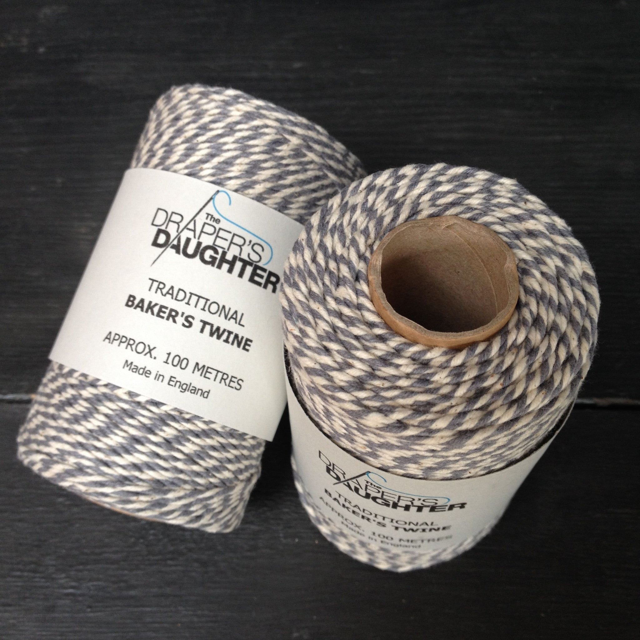 The Draper's Daughter Traditional Baker's Twine in Steel Grey