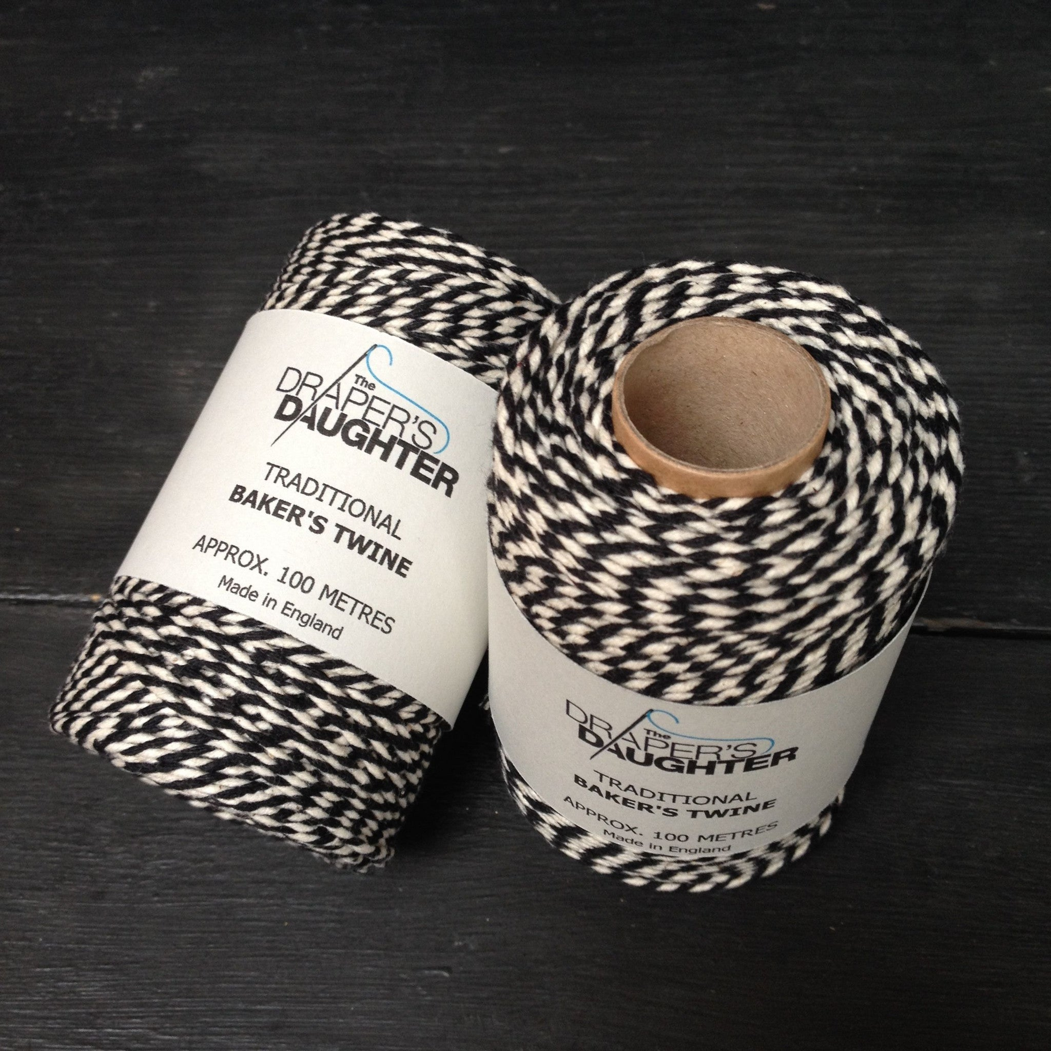 The Draper's Daughter Traditional Baker's Twine in Black