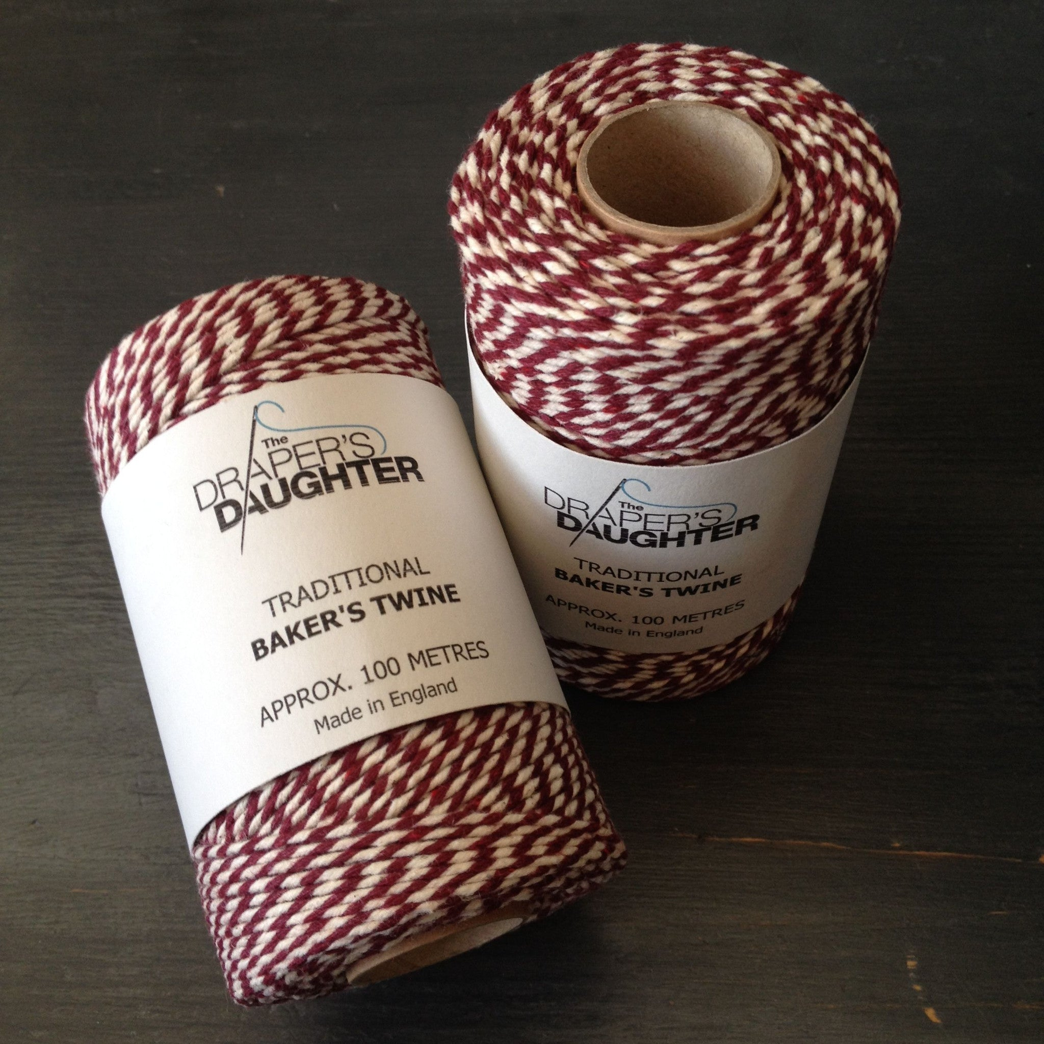 The Draper's Daughter Traditional Baker's Twine in Burgundy