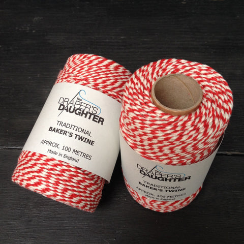 The Draper's Daughter Traditional Baker's Twine in Red