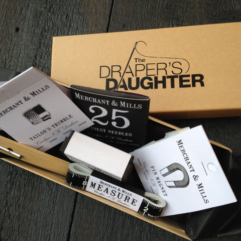 The Draper's Daughter Gift Box with Merchant and Mills Sewing Notions