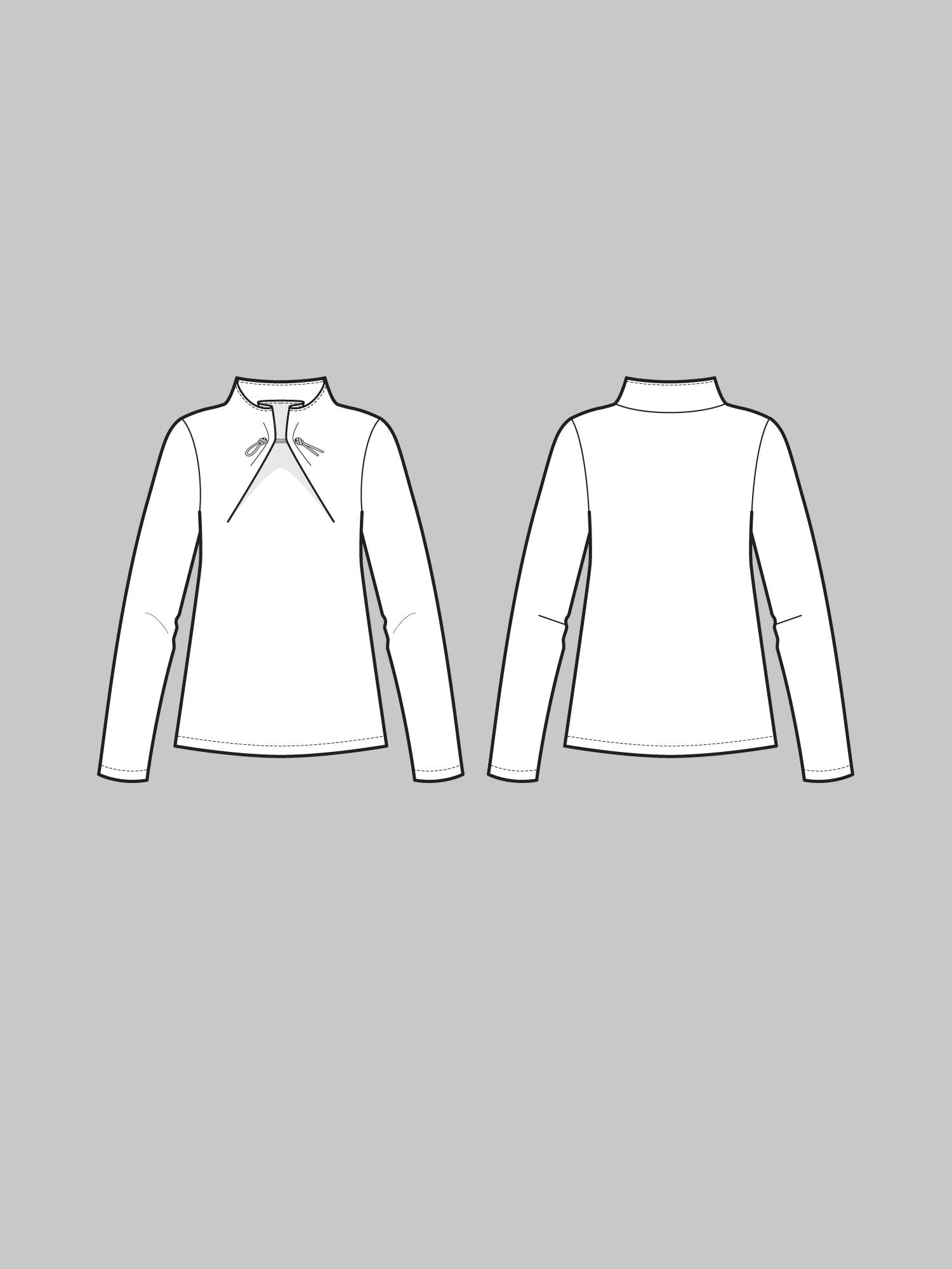 THE ASSEMBLY LINE • Elastic Tie Sweater Sewing Pattern – The ...