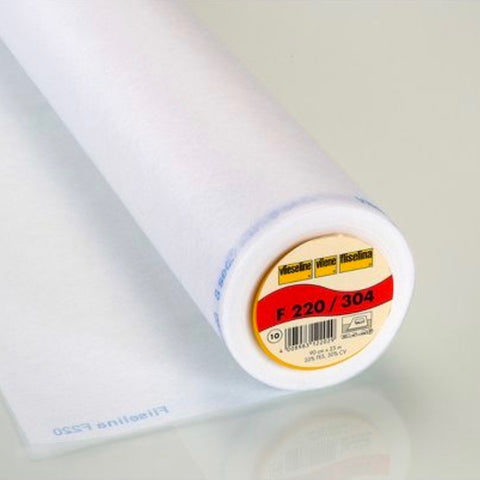 Vilene White Lightweight Iron On INterfacing