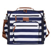 Convertible Nappy Backpack - Navy/White
