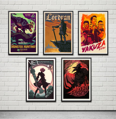 "24x36"" POSTER COMBO SET ~ 3-6 prints to choose"