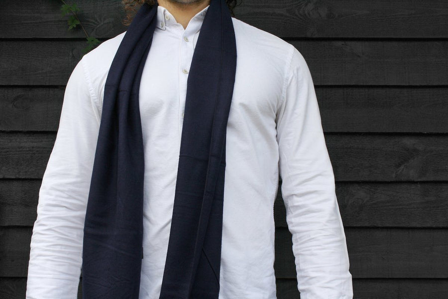 Scarves - Navy Bamboo Scarf
