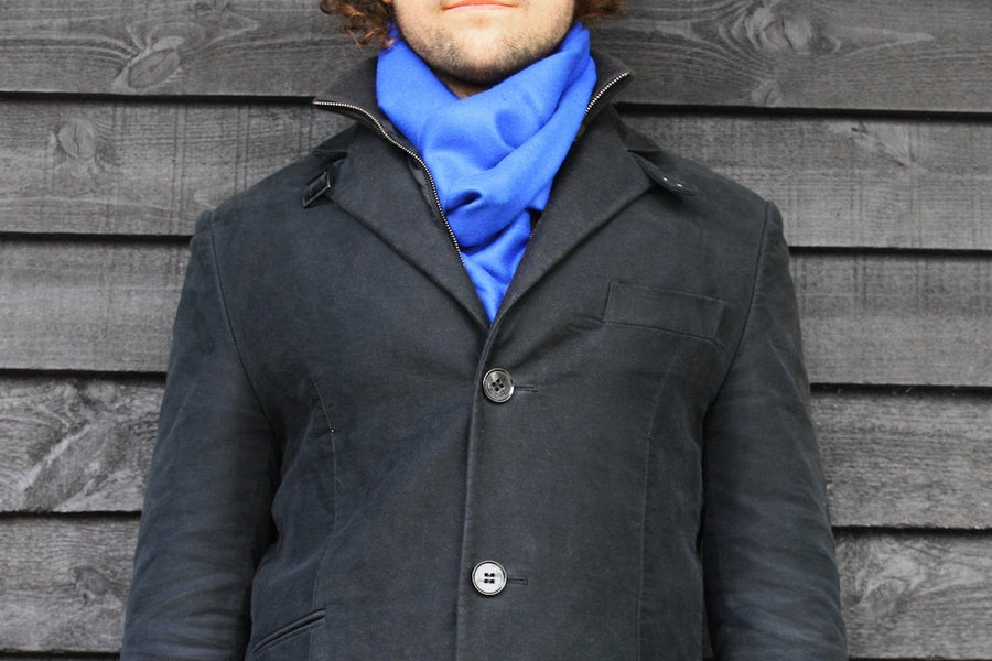 Scarves - Royal Blue Bamboo Scarf