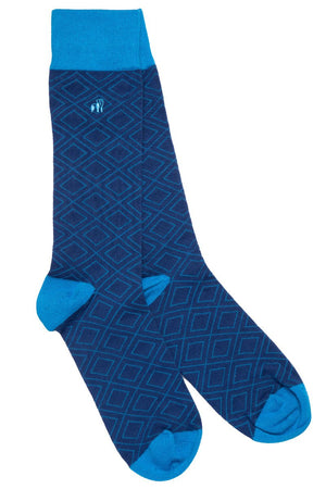 Socks - Blue Diamond Bamboo Socks