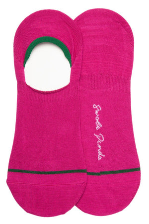 "Swole Panda Socks UK 7-11 (US 8-12 / EU 40-47) Cerise ""No-Show"" Bamboo Socks"