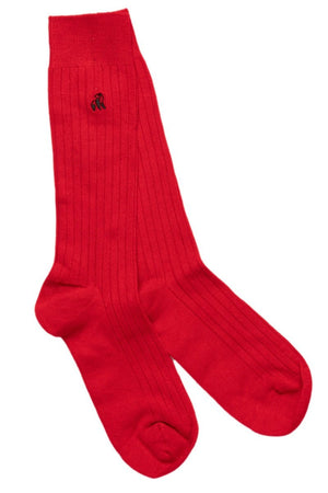 Classic Red Bamboo Socks - Swole Panda