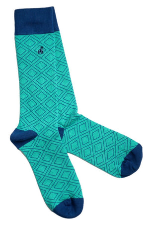 Socks - Green Diamond Bamboo Socks
