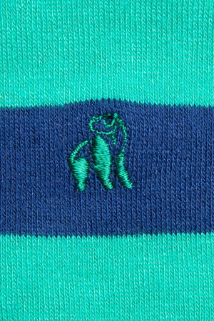 Lime Green Striped Bamboo Socks - Swole Panda