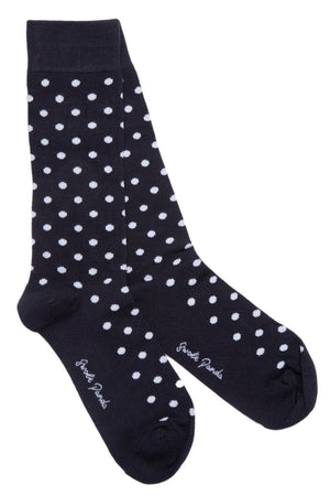 Socks - Navy Polka Dot Bamboo Socks