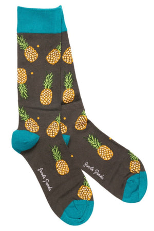 Swole Panda Socks UK 4-7 (US 5-7.5 / EU 37-40) Pineapple Bamboo Socks