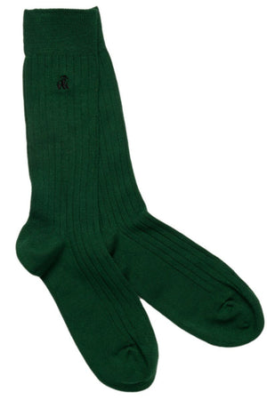 Swole Panda Socks UK 7-11 (US 8-12 / EU 40-47) Racing Green Bamboo Socks