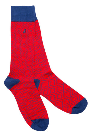 Socks - Red Diamond Bamboo Socks