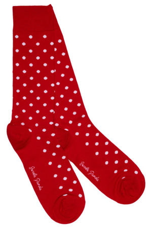 Red Polka Dot Bamboo Socks - Swole Panda
